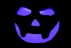 Purple Smiley Jack O' Lantern