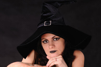 Young Witch in a black hat