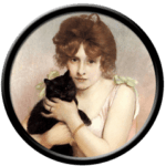 Black Cat and a Woman
